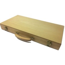 Poker-Case Wood for 500 Chips Empty