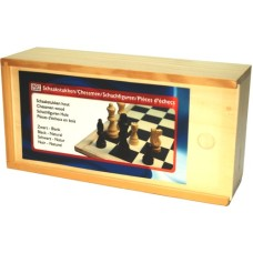 Chessmen 77 mm.Staunt.3 natur/black