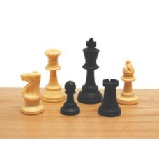 Chessmen plastic 77mm Black/w.Staunt.3 i.bag HOT * delivery time unknown *