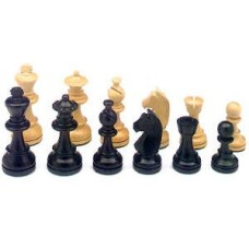 Chessmen Staunton 3 Palm/Black.76 mm W+F.HOT