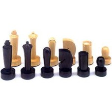 Chessmen Berliner Boxw./Black Sz.5 W+F 87mm. * delivery time unknown *