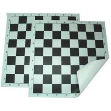 Schaakb.vinyl rolb.55 mm wit/zwart 51cm