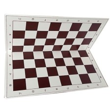 Schaakbord vinyl vouwb.55mm.wit/br.50cm. * levertijd onbekend *