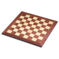 Schaakbord mahonie/ahorn.ing.V.50mm.48cm * levertijd onbekend *