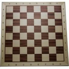 Schaakbord Mahonie/Ahorn 54cm.57mm.C/L