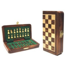 Chess-folding cass.inlaid magnet.19x9x3cm.
