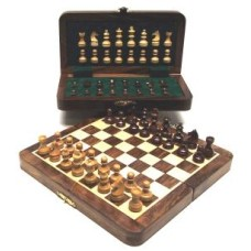 Chess-folding cass.inlaid magnetic 20x10 cm.