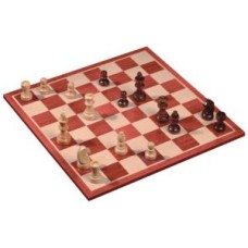 Chess- set MDF Mahagony Design 45mm.