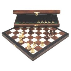 Chesscass.Magn.wood dyed 27x13.5 cm * delivery time unknown *
