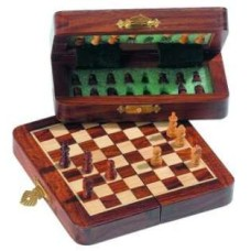 Chess Travelset Mini-magnetic folding 16 cm.