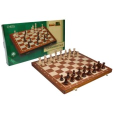 Chess cas.Tournam.6 Mahog/Ash 53x26cm