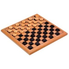 Wooden draughts-set print.29x29cm fieldsz.26 mm * delivery time unknown *