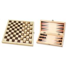 Dam-/Backgammon klapcass.29cm.bedrukt