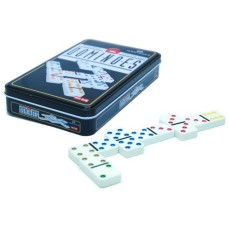 Domino double 6 in tin, coloured points HOT