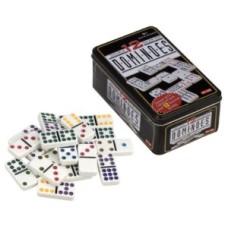 Domino Dubbel 12 in blik, punten gekleurd