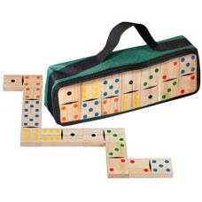 Domino large 3617 double 6 wood