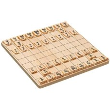 Shogi Japanes Chess 3297 wood 26x26x1,2 cm