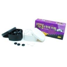 Go-stones glass white/black 20-7mm.2x160