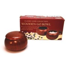 GO-Bowls 2 set br.wood with lid excl.stones