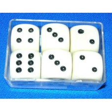 Dice (China) 16 mm 6 pieces  in plastic box