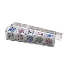 Pokerstenenset 16 mm 5 st.in pl.doosje