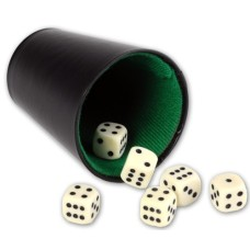 Dice-cup black vinyl with green felt VE 10