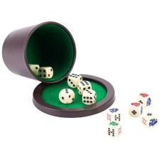 Dice /pokercup-Set w.lid and 2x dice blister
