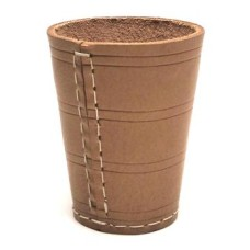 Dicecup 10x8 cm.raw leather natural