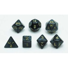 Dice set, Grey marble/pearl, 7 pcs. * delivery time unknown *