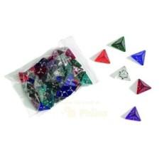 Acrylic dice,4 sides,20mm,6 colour.ass.p.12
