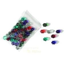 Acryl.dice,20 sides,19mm, colours.ass.p.12
