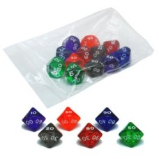 Acryl.dice D10-100,10sides,6col.ass.p.12