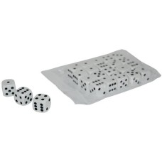 Dice White Opaque 16 mm, in bag of 20 pc.