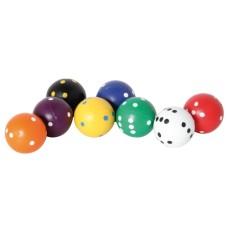 Dice Round 8 colours, 22 mm - per 20
