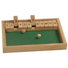 Shut the box/diceg.XL.12 numb.31x23x3cm. * delivery time unknown *