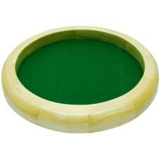 Dicetray rubberwood round 35cm.green felt
