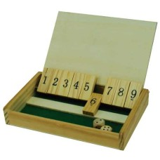 Shut the Box Mini hout13x8 cm.m.deksel HOT