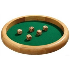 Dicetray XL natural wood 40 cm.incl.5 dice