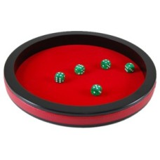 Dicetray 30 cm/11 inch.bl.MDF/red.felt.HOT
