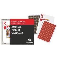 PokerSpeelkaartenSet OPTI Dubbel Piatnik