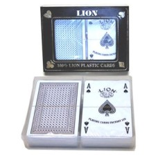 Playing card Set LION 100% plastic double