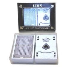 Speelkaarten Lion bridge100% plastic dubbel