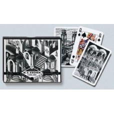 Playing cards set Escher Up&Down double