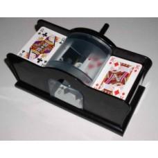 Card shuffler manual control