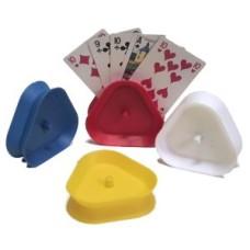 Speelkaarthouder driehoek met veer - VE 4