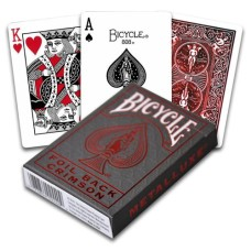Poker cards Metallux Red, Bicycle USA