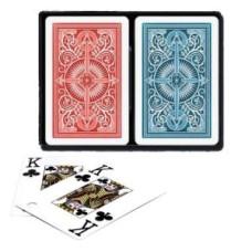 Pokerkaarten KEM 2-pack 100% Blauw/Rood
