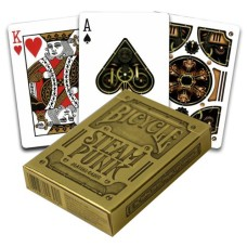 Poker cards Steampunk Gold Premium, Bicycle