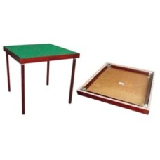 Bridge table 89x89 cm. feet foldable.