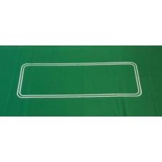 Pokercloth green felt 93x182cm.oval line